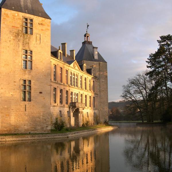 ©Château de Sully en Bourgogne-façade est au matin